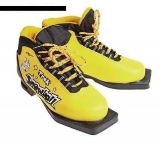 Ботинки лыжные Трек snowball ИК желто черные