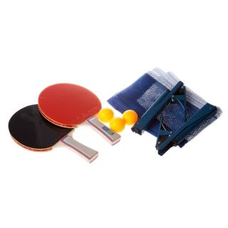 Набор для настольного тенниса P-81311 : 2 ракетки (3*), 3 мяча и сетка с зажимами в чехле на молнии.