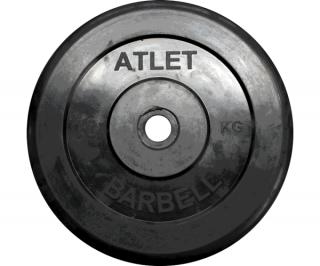 Диск обрезиненный d 31 мм черный, 10 кг