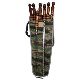 Набор шампуров с деревянной ручкой в чехле