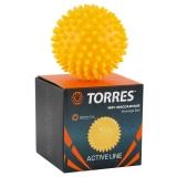 """Мяч массажный """"TORRES"""", арт.AL100607, диам. 7 см, ПВХ с выступами 1 см"""