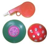 """Набор Летающих игрушек №10 (Летающая тарелка """"малая"""", Свисток, мяч) 374"""
