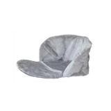 Утеплитель для санок универсальный меховой, серый.