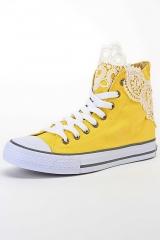 Кеды женские с шитьем yellow l-kv-5756-4