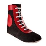 Самбовки Е014 черно-красные, замша