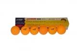 Мячи н.т. DHS 2 звезды, 6шт./ упак. проф. оранжевы (G271(1840))