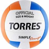 Мяч волейбольный №5 Torres Simple Orange