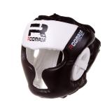 Шлем бокс. Roomaif 3G PU защитный черно-белый RHG-150