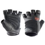 Перчатки для занятий спортом TORRES, PL6049L, р.L, нейлон, нат.кожа и замша, подбивка гель, черные