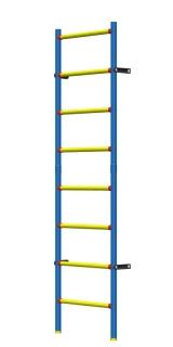 Шведская стенка детская пластиково-металлическая 200 х 50 см