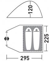 Палатка Greenell ''Керри 2 V3'' коричневый