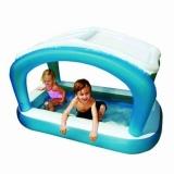 Надувной детский бассейн с тентом и надувным полом Intex 57423NP
